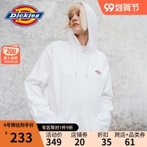 DickiesLOGO printed hooded couple sweater womens 2021 new cotton pullover casual top 8874