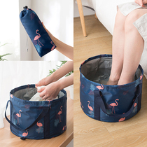 可携式可摺叠盆户外水盆旅行大号泡脚袋旅游洗衣盆洗脸盆洗脚水桶