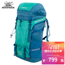 BIGPACK Pigg Outdoor Backpack Mountaineering Bag Male High Capacity Shoulder Professional Sports Hiking 60L