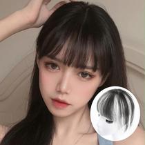 Air Liuhai fake 髮 real 髮 3d net red head patch natural ultra-thin Qi Liuhai unmarked fake Liuhai