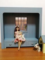mydoll] 1 6 maison de poupée scène personnalisé 6 Maison De Poupée-américain rebord de fenêtre (peut être personnalisé taille)