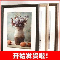 Solid wood frame wall 20 24 inch a4a3 custom any size frame frame frame 8k4k mounted puzzle frame