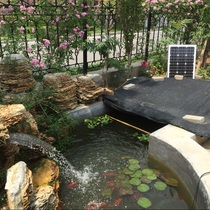 Solar rockery fountain Waterfall Water pump fish pond oxygen filtration high-power circulating pump factory Direct Sales