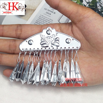 Miao silver ornaments aluminum hat accessories silver DIY materials jewelry minority clothing accessories decorative antique style
