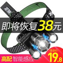 Projecteur à DEL de charge de léblouissement par induction de zoom de la tête de lampe de poche ultra-brillante de la pêche nocturne de la lampe de mineur de petite hernie 3000
