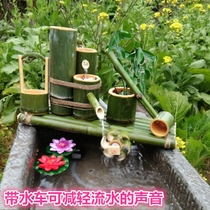 Fish Tank Bamboo Water Filter Creative Desktop decoration Crafts Bamboo tube water circulation humidifier fish pond Decoration