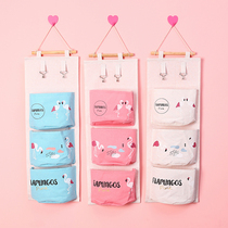 Door after storage hanging bag cute fabric wall hanging pocket hanging wall bag wall hanging student dormitory artifact dormitory pendant bag
