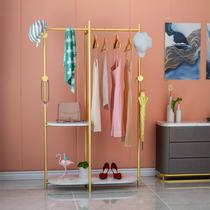 Nordique marbre porte-manteau Multi-Fonction Lumière De luxe étage suspendus cintre intérieur chambre cintre vêtements rack