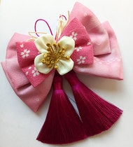Japanese-style and wind kimono head flower Japanese handmade oversized butterfly knot fringed antique chinese clothing accessories duck Beak hairpin