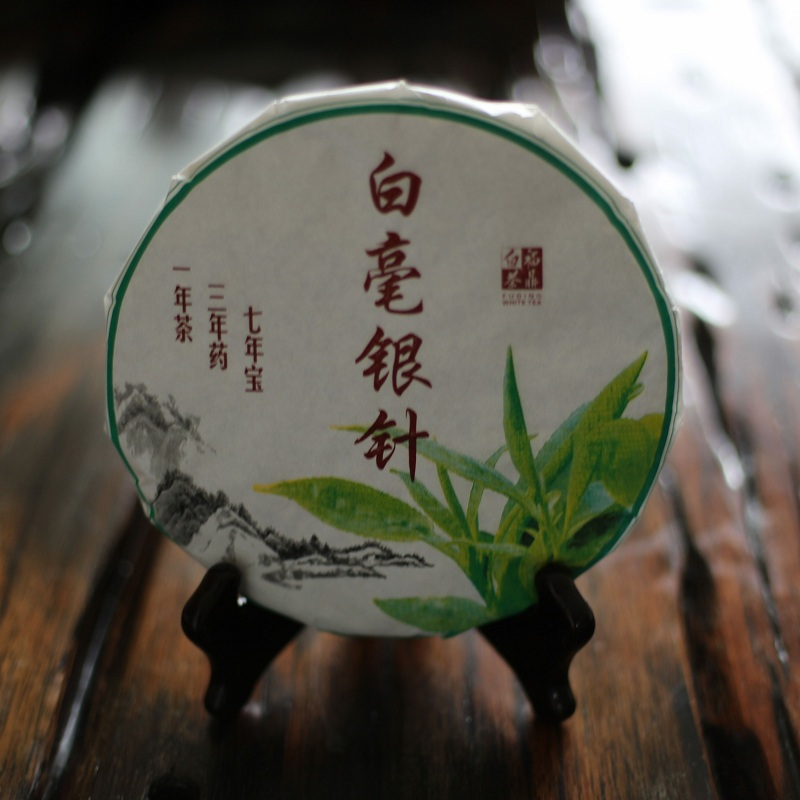 2016 Fujian Fuding white tea baihao silver needle tea cake Premium Fuding old white tea taibai silver silver needle tea tea