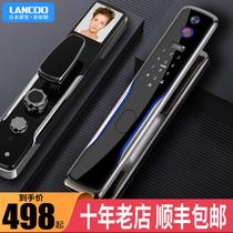 Serrure dempreinte digitale automatique langke japonaise top 10 marques serrure de mot de passe intelligente avec porte de sécurité de caméra de surveillance