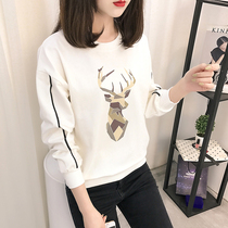 Thin spring head Joker students  loose sweater