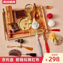 Chinese modern drawing props Red cloth mens and womens treasure package birthday gifts for the babys one-year-old