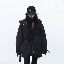 CHICVEN Korean loose hooded cotton suit Autumn and winter new thickened cotton suit drawstring bread suit jacket Winter 2020