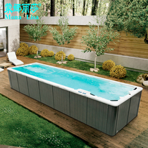 Outdoor installation-free large swimming pool Infinity recoil surf swimming bath Multi-person sports bath
