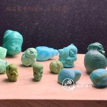 Fuyuntang Shiyan original mine high porcelain rapeseed yellow mini hand carved pieces