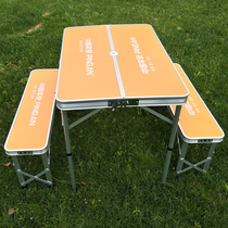New Ping An exhibition table outdoor folding tables and chairs stall folding table aluminum folding table Portable table Outdoor table