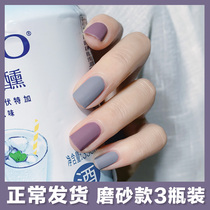 3 bottles of nude color scrub Nail Polish Set female autumn and winter color students paragraph matte lasting non-stripping baked dry