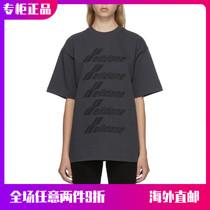 (Official website spot)WE11DONE 21SS spring and summer barrage letter arrangement LOGO mens and womens loose short-sleeved T-shirt