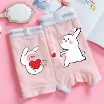 Пара трусики хлопок костюм милый личность Мэн кролик сладкий сексуальный двойной нижнее белье мужчины и женщины новый тренд