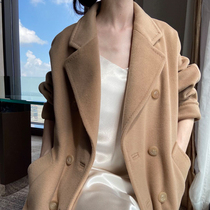 M home classic 101801 double-sided cashmere coat female medium-length version of the fall winter 2020 new high-end wool coat