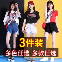 Version coréenne cow-boy des étudiants centaines pantalon de taille mince blanc chaud