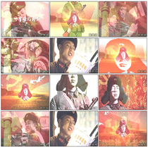 Learn Lei Feng good example Song accompaniment stage Loyal to the revolution Serve the people led background video material
