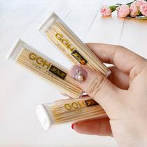 Korean creative cartoon cubs canned double fine head bamboo Toothpick Hotel Home Restaurant portable environmental Toothpick barrel