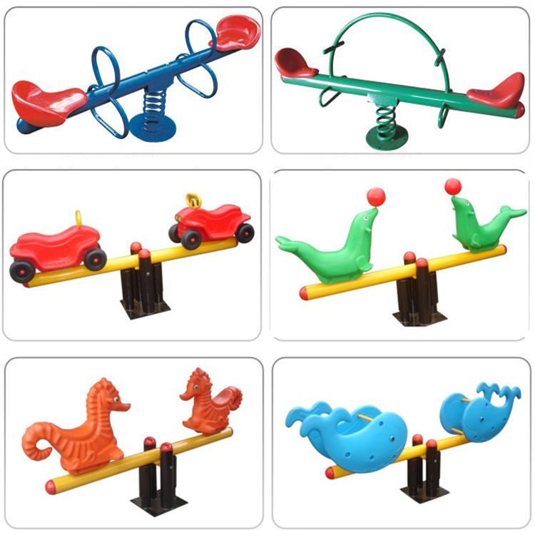 Childrens toys double four-person spring seesaw kindergarten fitness equipment community park amusement facilities