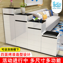 Shoe cabinet paint combination cabinets high and low partition ladder double-sided shoe cabinet simple modern environmental protection foyer cabinet