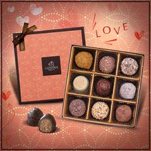 歌帝梵爱大声说松露形巧克力礼盒9颗装