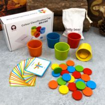 Baby early teaching to distinguish color classification cup kindergarten Montessori children puzzle cognitive pairing toys teaching aids