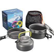 Outdoor set pot 1-2-3-4-5 people camping pot set portable picnic stove head set pot teapot set picnic set pot pot.