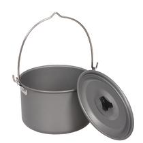 Outdoor camping camping camping single pot camp pot large hanging pot 6-8 people cooking pot pot camping