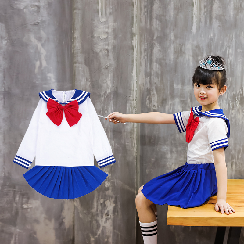[The goods stop production and no stock]Cosplay Clothes,Halloween Clothes,Halloween Children's Clothing Girls Sailors Navy Kindergarten Cosplay Masquerade Cosplay Costumes