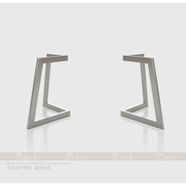 Pure Handmade creative special-shaped table scaffolding on the wide narrow table legs narrow down wide table legs private customization