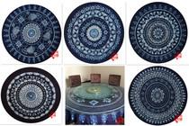 Yunnan Dali Bai pure HAND-made fine tie-dye table cloth hanging curtain round table cloth (DIAMETER 195CM)