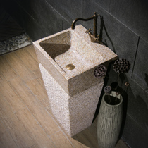 Stone wash basin Rough column type washbasin Art garden courtyard pool slot balcony room outdoor wash table