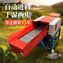 Large horizontal grass cutting machine Automatic feed farming household 220V corn straw crushing cattle and sheep cutting grass kneading machine