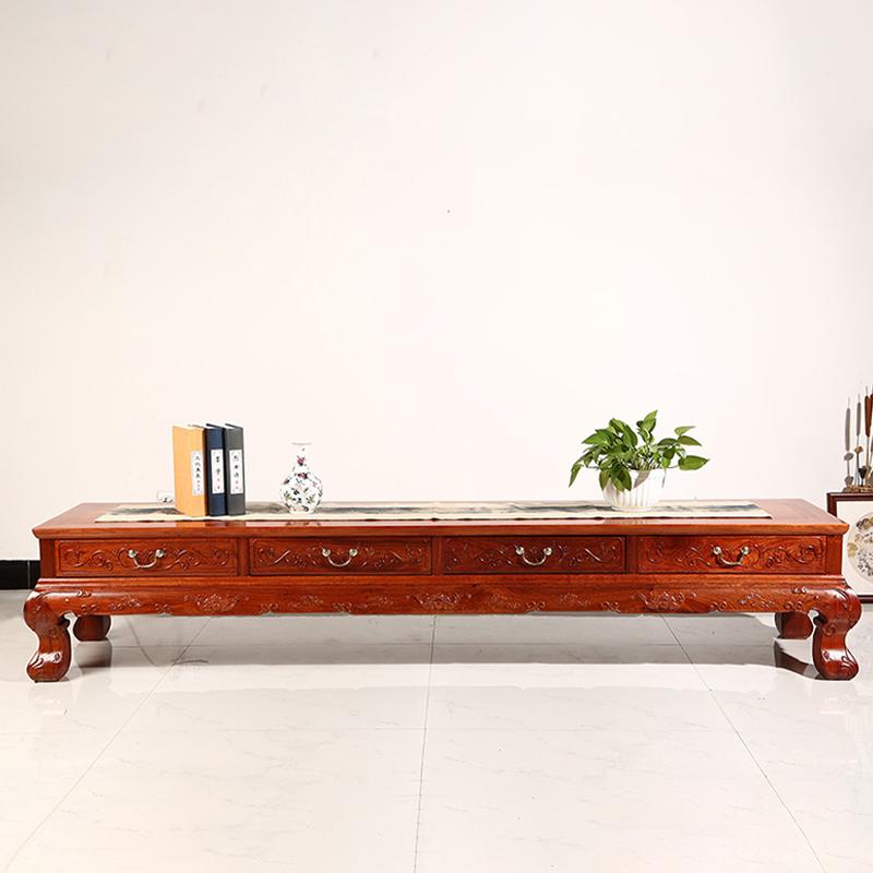 (i.e. on camera) Burmese pear-clear arc-foot TV cabinet living room redwood furniture storage cabinet