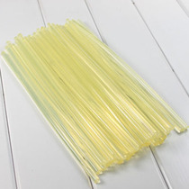 High quality hot melt glue rod trumpet yellow glue strip full transparent soft hot melt Adhesive Rod 7mm