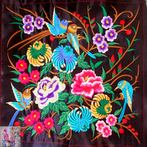 Machine embroidery embroidery Yunnan ethnic characteristics embroidery embroidery national characteristics embroidery embroidery embroidery embroidery chrysanthemum birds