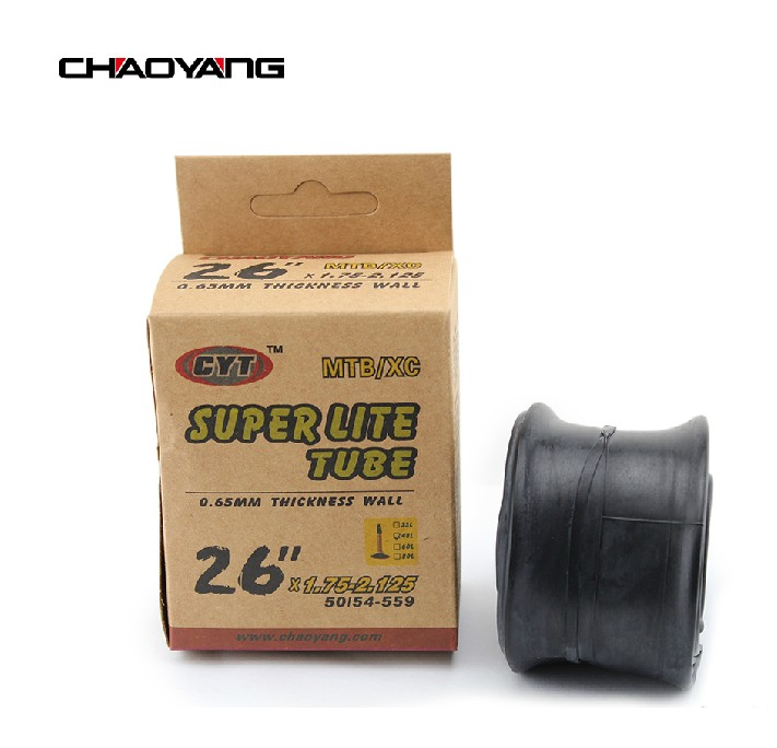 Chaoyang MTB inner tube 26*1.75/2.125 bicycle inner tube 0.65MM ultra-light inner tube mouth 48MM