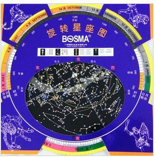 Bossa Rotating Astrolabe Star Map Astronomy Lovers Stargazing Telescope Accessories Observing Constellation Star Planet