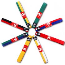 Tian Quan Taekwondo belt embroidery word belt children test class white yellow belt yellow green belt green Blue belt blue red belt red black Belt