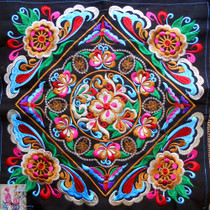 Full net complete Machine embroidery Embroidery film National embroidery Miao embroidery Embroidery accessories Decoration 36cm Embroidery Film National Embroidery Cloth