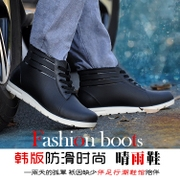 The summer male Korean low boots boots waterproof shoes are slip in tube rubber plastic overshoes outdoor shoes