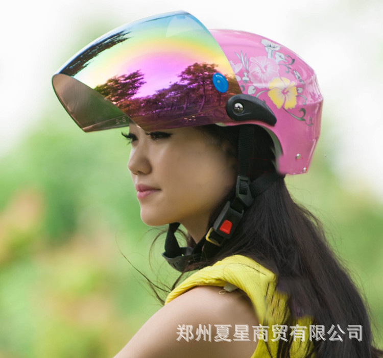 Summer and Winter Seasons Motorcycle Helmets Electric Vehicle Helmets Summer Helmets Half Helmets Half Covered Safety Hats for Men and Women
