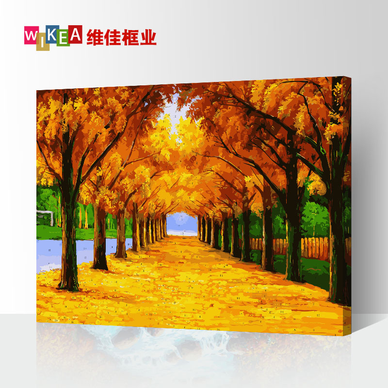 Thickened Frame Diy Digital Oil Painting Living Room Landscape Flower Animation Character Filling Hand-painted Decorative Painting Creative Gift