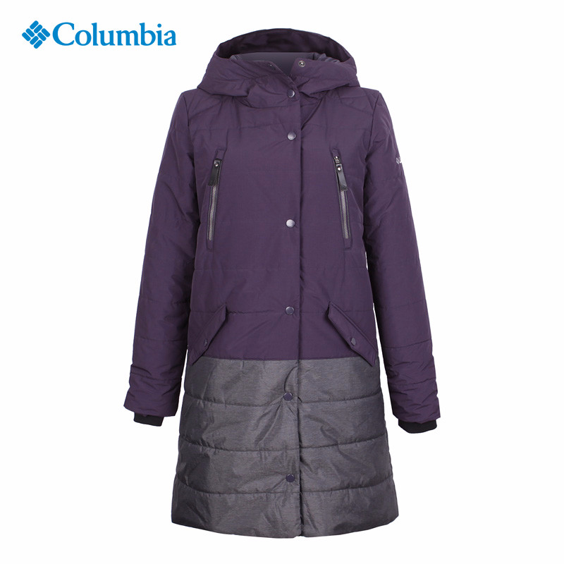 Colombia City Outdoor Female Thermal Reflective Warm, Wind-proof and Waterproof Long Cap Cotton Coat YL3577